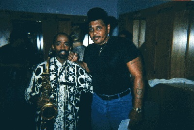 Johnny Long hanging with Aaron Neville while on tour playing Lead Alto for the expanded Horn Section for B.B. King