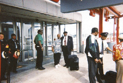 Johnny Long and B.B. King at the Airport after playing a show, waiting to fly out to the next show