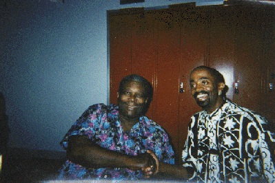 Johnny Long backstage with B.B. King after playing Lead Alto Sax for a show with the B.B King expanded Horn Section while on tour