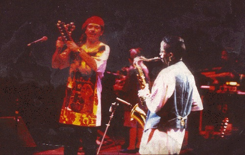 Johnny Long playing Tenor Sax with Carlos Santana at WolfTrap in Vienna, VA