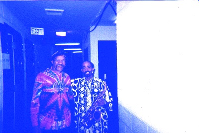 Johnny Long hanging with Charles Neville while on tour playing Lead Alto for the expanded Horn Section for B.B. King