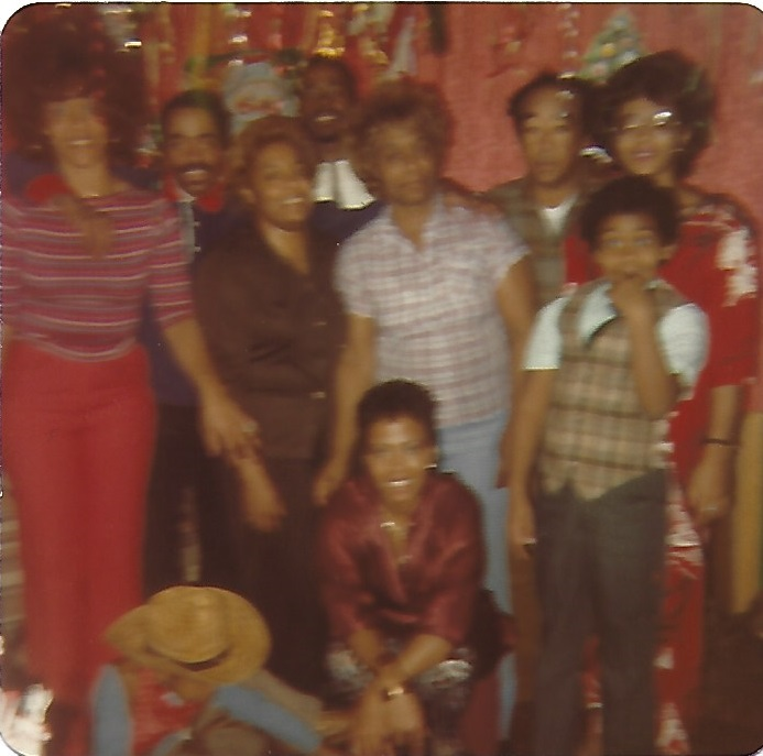 Johnny Long with Family.  William E. Smith (Grandfather), Grace N. Smith (Grandmother), Delores Smith (Mother), Bertha C. Fields (Aunt), Darlene Long (Sister), Curtis Long (Brother), Joyce Long (Sister), Elliott Fields Jr. (Cousin)