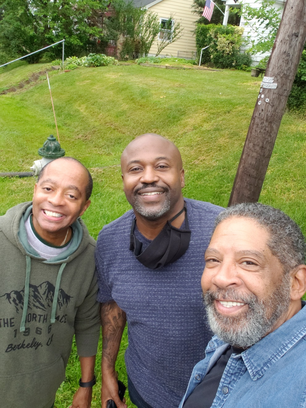 With Mousey Thompson and Diallo Foster-Butler hanging out and talking Music
