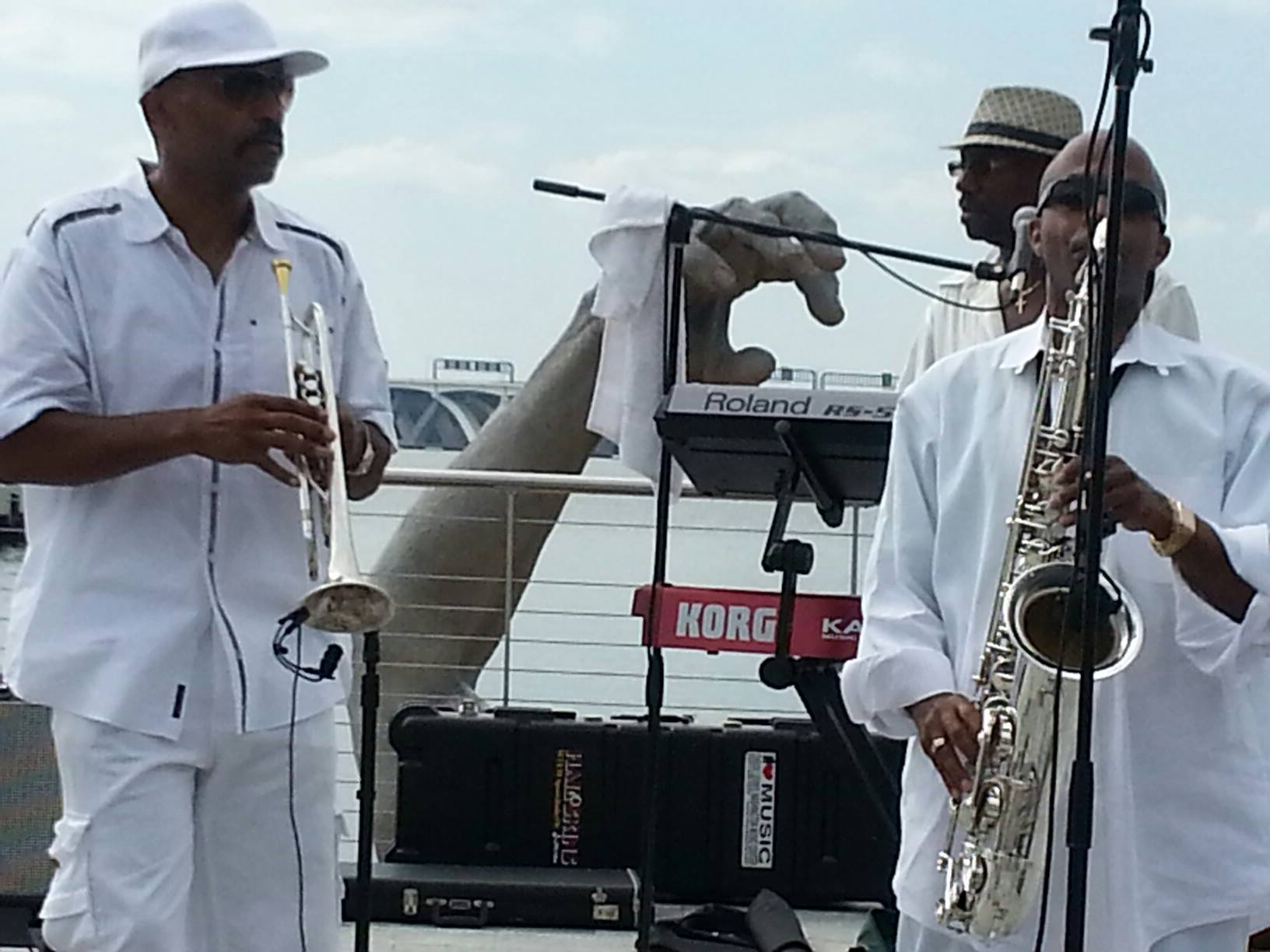 Johnny Long Playing Tenor Sax, Buzzy Pindell (Trumpet)