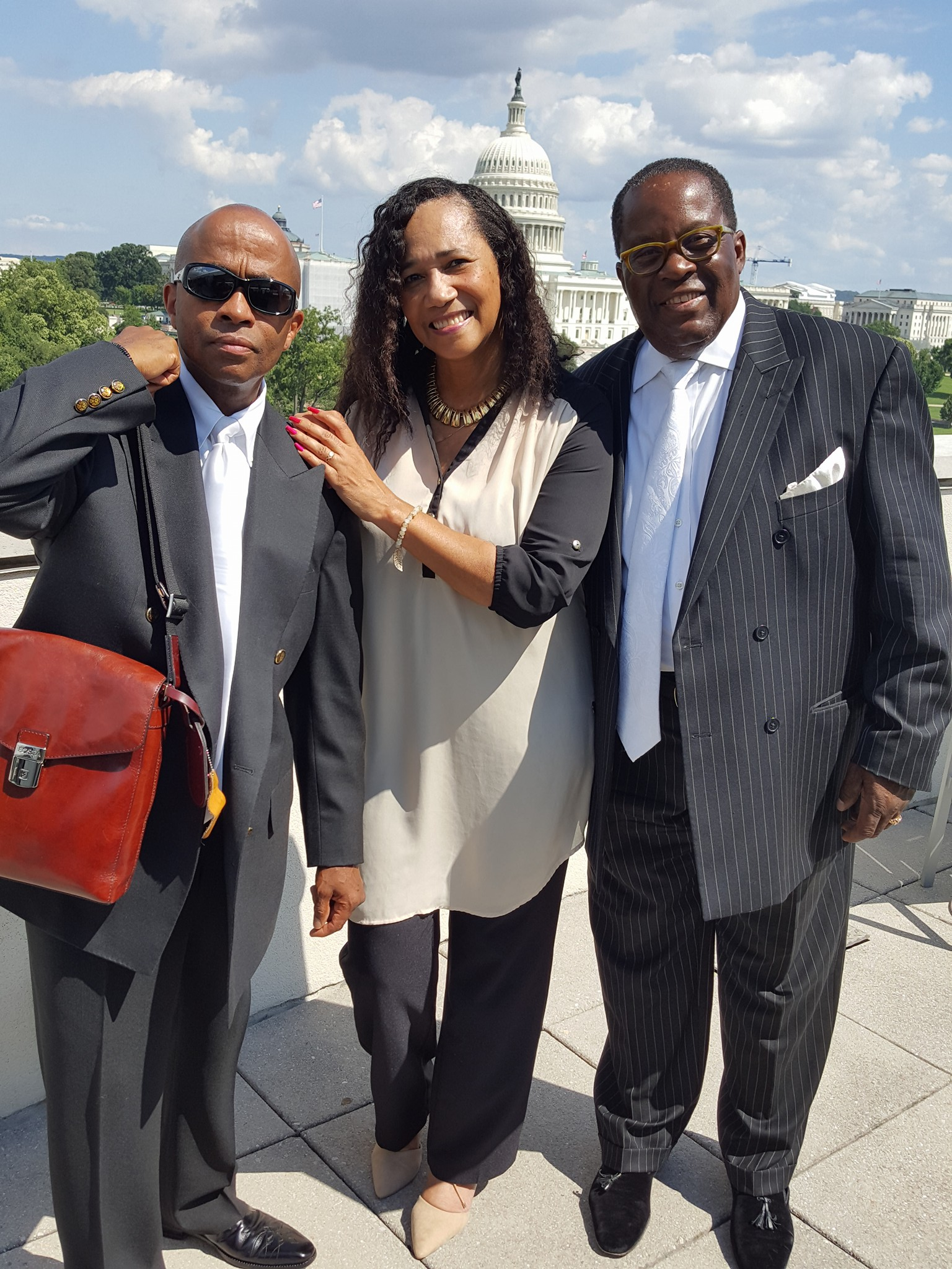 Johnny Long Playing Tenor Sax with Kenny Holmes (Guitar) and Denise Johnson (Drums) at the United States Capitol in Washington, DC
