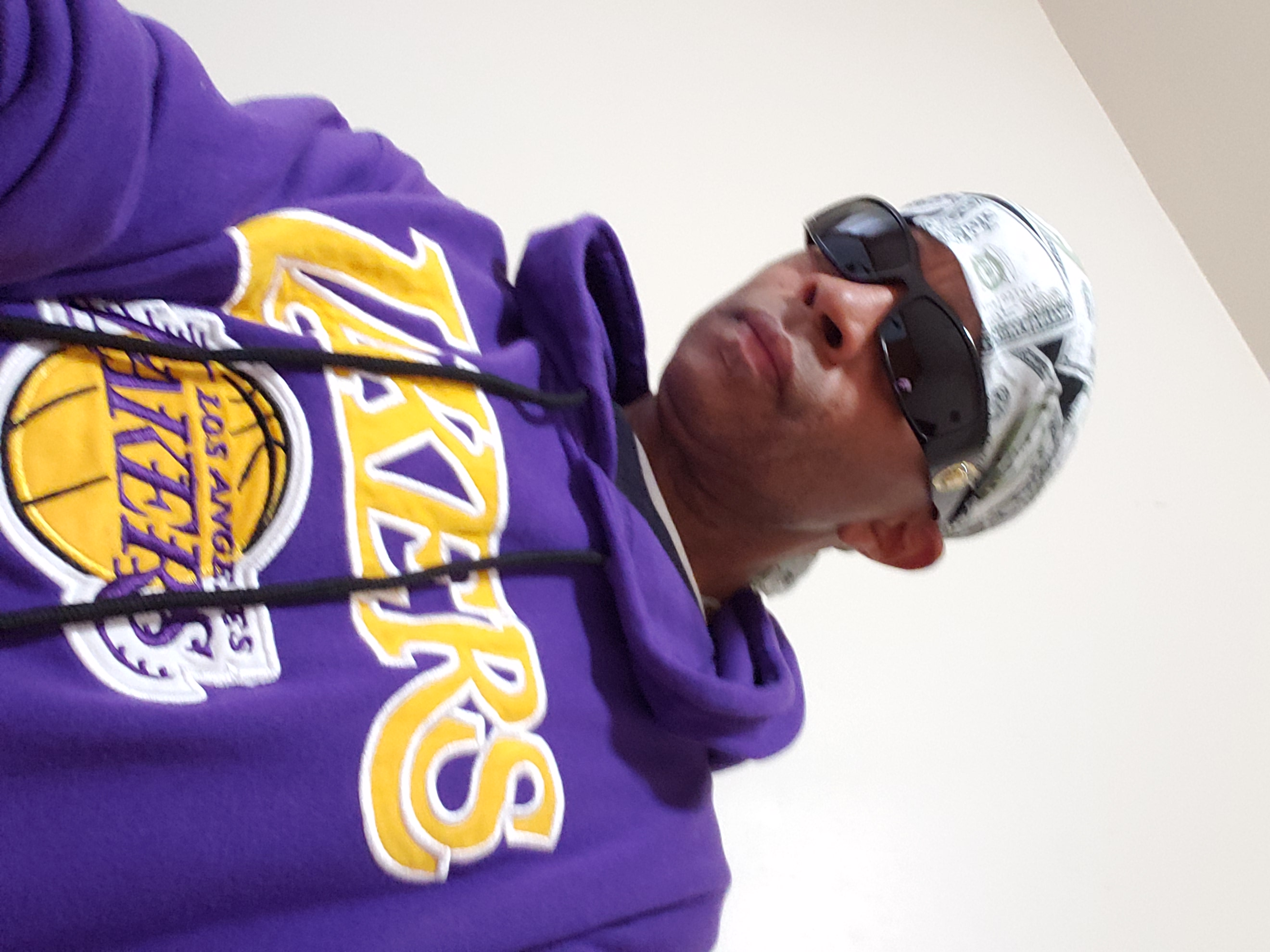 Johnny Long in L.A with The L.A. Lakers