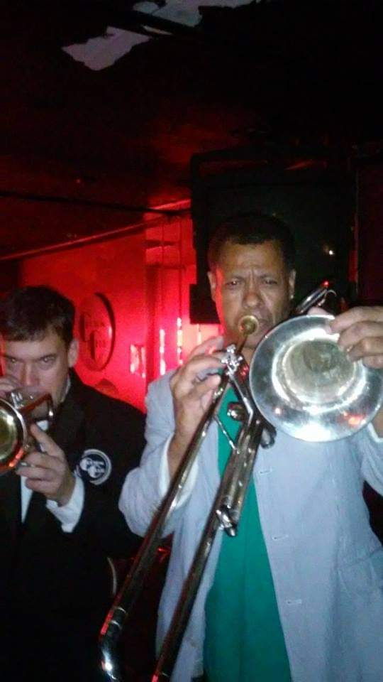 Johhny Long playing Tenor Sax with Michael Arthur Grey (Trombone) and Mac Gollehon (Trumpet) in N.Y.