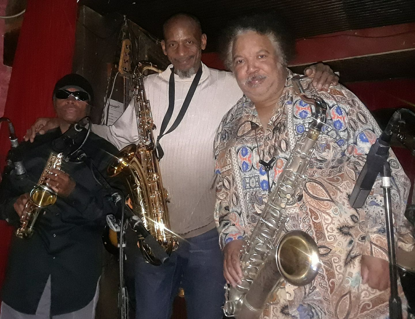 Johnny Long playing Tenor/Soprano Sax with Ron Holloway(Tenor Sax) and Walter Tate (Tenor Sax) at Madams Organ in Washington, DC
