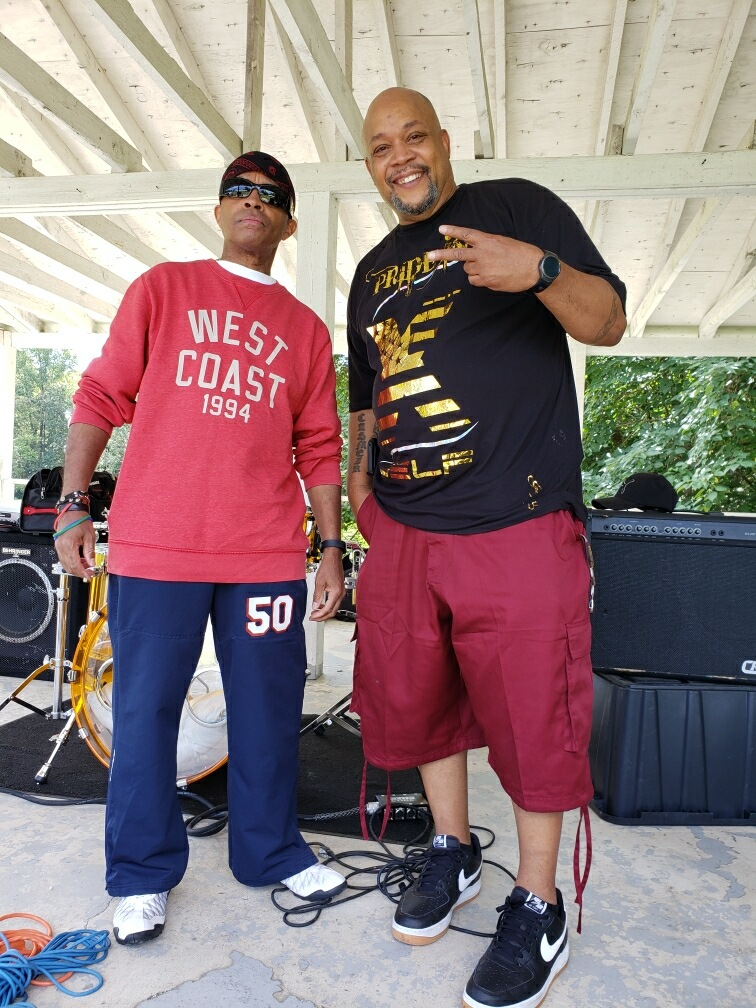 Johnny Long hanging out with Sy Mahdi talking Go-Go Music.  R.I.P Ricky Wellman.  Big respesct Kiko Wellman